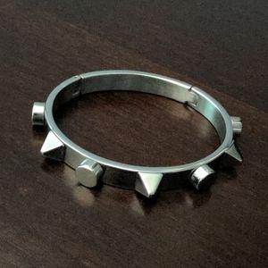Studded Bangle Bracelet Stainless Steel